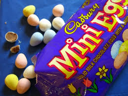 The culprit. Actually I was the real culprit. I could have just walked away from you, mini eggs