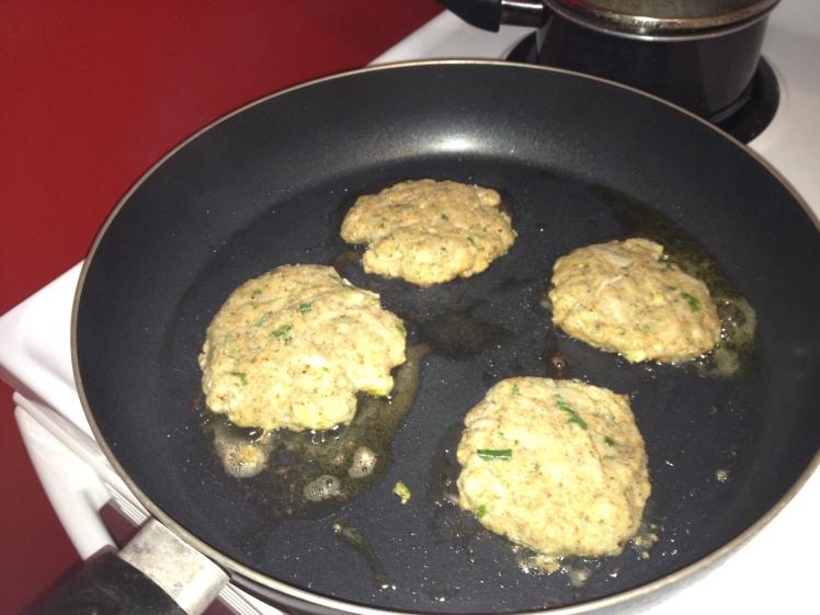 Cook in skillet until both sides are golden brown.