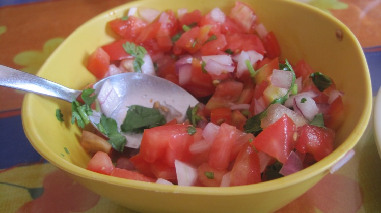 Authentic pico di gallo.