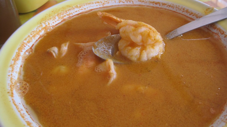 Fresh shrimp soup. So ymmy!