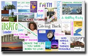 Vision board as seen on Pinterest.