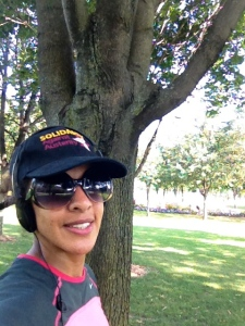 Feeling rejuvenated after a park workout? Take a selfie!