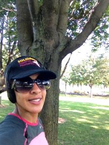 Feeling rejuvenated after a park workout? Take a selfie!