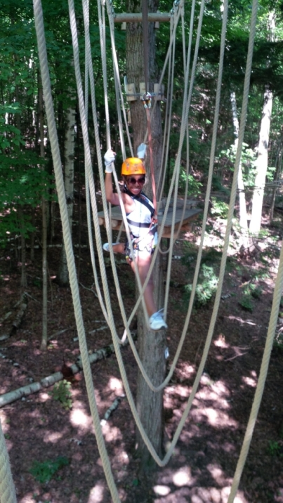 """Here comes Mikayla. Showing us """"the ropes."""""""
