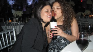 I think my crazy sis Camille (on right) and crazier cousin Margot love red wine more than I do!
