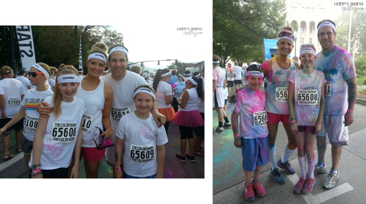Our family before and after The Color Run(3)