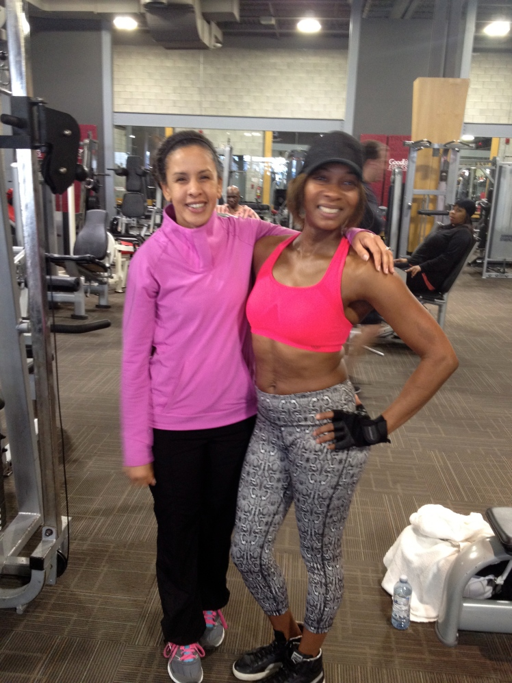 Angela and me at her gym.