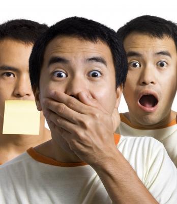 Asian guy in shock